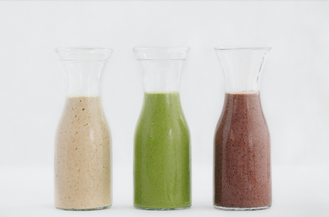 three types of smoothies