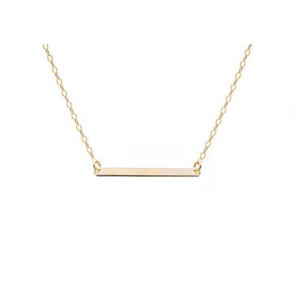 simple gold bar necklace for women