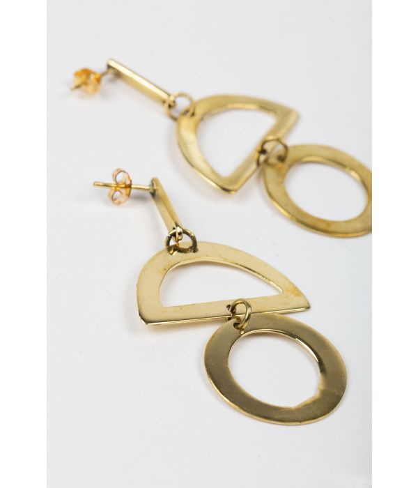 Geometric Brass Earrings | Fairtrade Certified