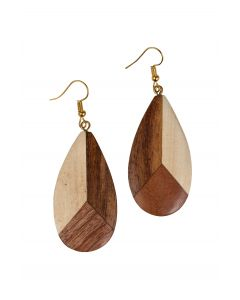 handmade wooden earring fairtrade