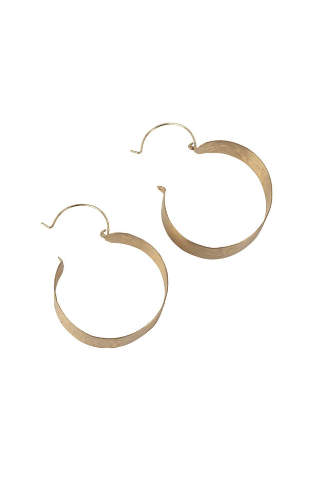 Banded Brass Hoop Earrings | Fairtrade Certified