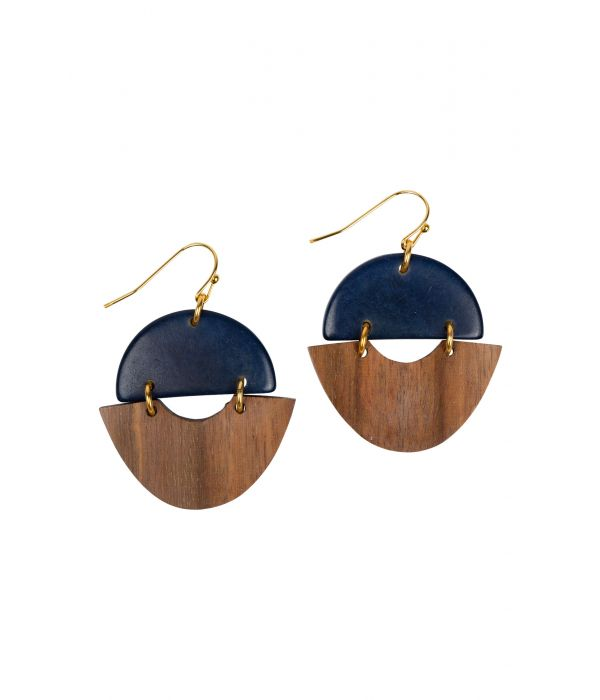 Tagua and Guayacán Wood Earrings | Fairtrade Certified