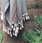 Blackrock Turkish Towel -- black/red