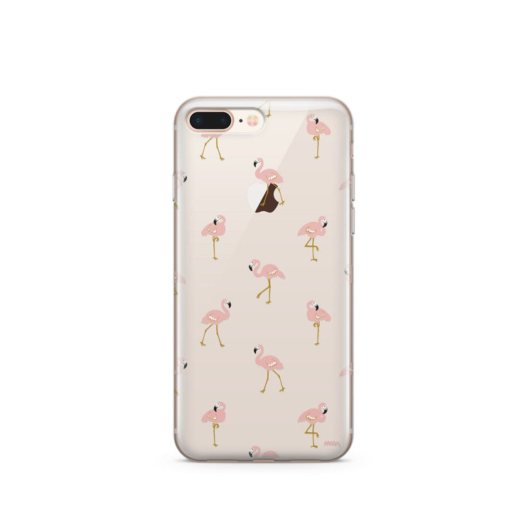 Flocking Flamingos - Clear Case Phone Cover
