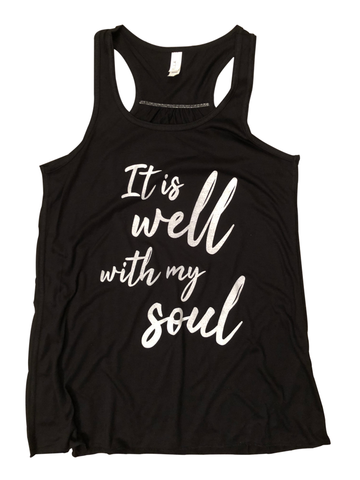 faith based tank top it is well with my soul