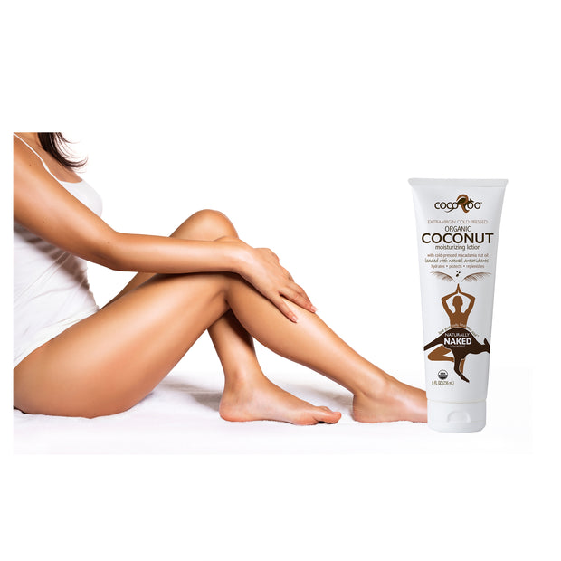 Certified organic and made with extra virgin cold-pressed coconut oil. Macadamia nut oil is added for its ability to be absorbed quickly by the skin without leaving a greasy and heavy feeling. Those are literally the only 2 ingredients in Naturally Naked. We do not bulk our products with added water or chemicals.
