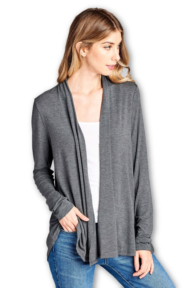Products Bamboo Open Front Cardigan The Ripple Company Ripple