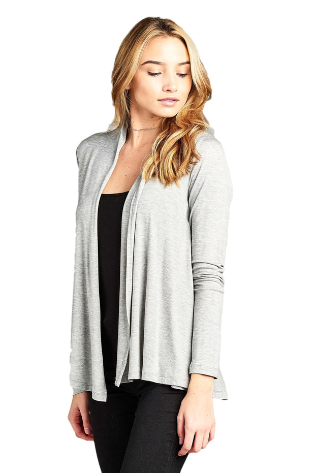 Bamboo Open Front Cardigan