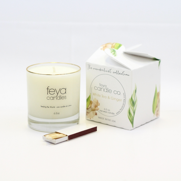 White Tea and Ginger Candle by Feya