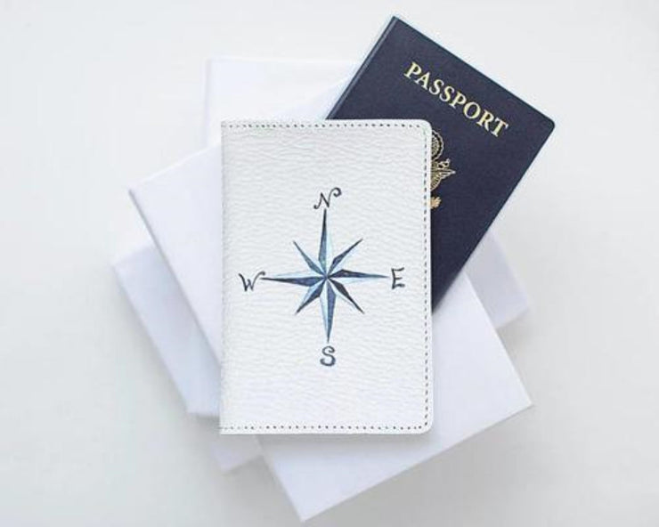 Wind Rose Passport Case