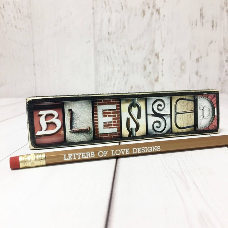 Blessed - Photo Letter Art