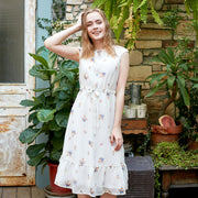 Chiffon floral swing dress