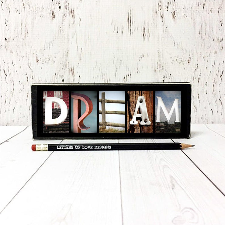 Dream & Follow Your Dreams - Photo Letter Art