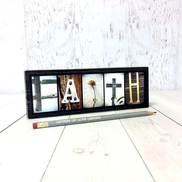 Faith - Photo Letter Art
