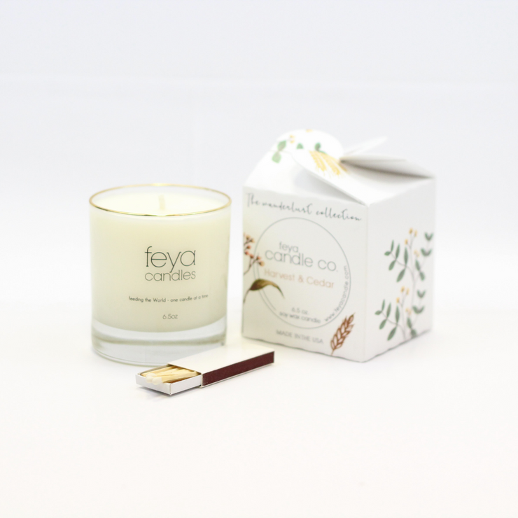 Harvest & Cedar Candle by Feya