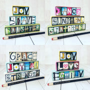 Good Vibes Only set -- Photo Letter Art