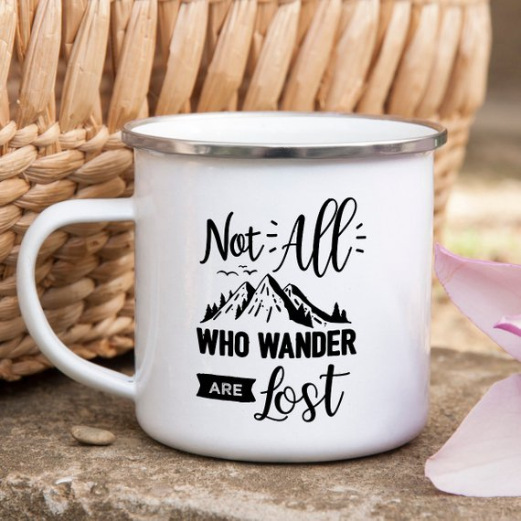 Not All Who Wander Mug