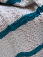 100% Andes Wool Hand Knitted Wrap