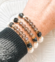 Mod-Vintage Glass & Striped Agate Freedom Bracelet