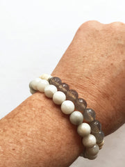 Natural Crazy Agate Freedom Bracelet (stacking bracelet)