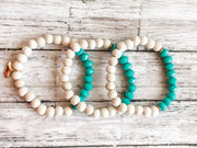 Aqua Glass + Wood (Diffuser Bracelet)