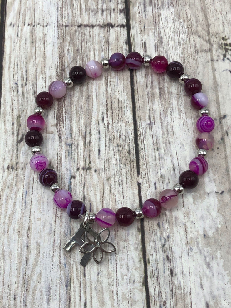 Dances with Violets -- Ripple Freedom Bracelet