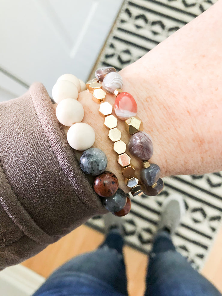 Layered Agate | Freedom Bracelet