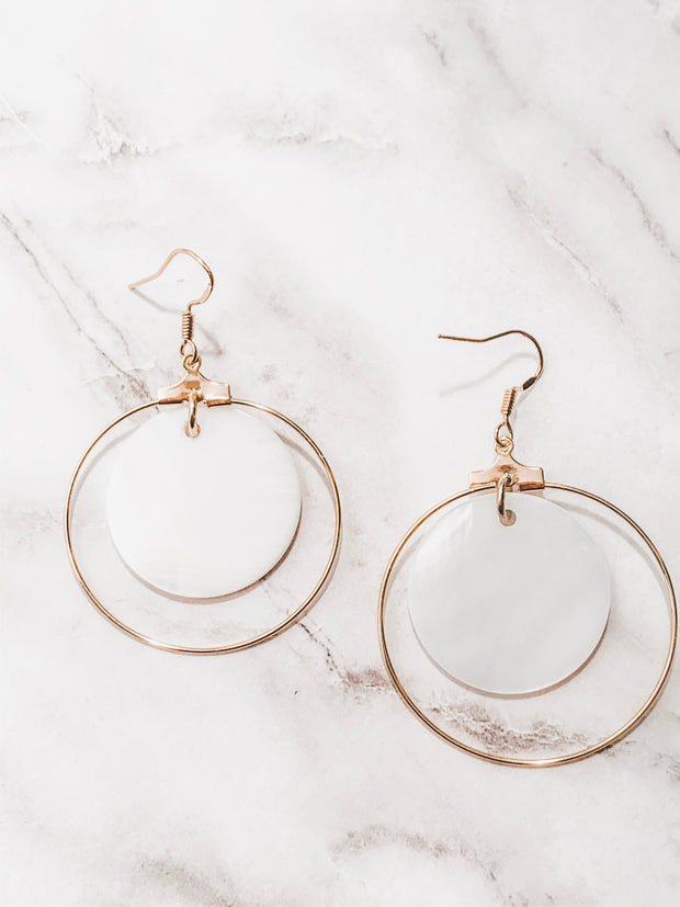 Shell + Gold Freedom Earrings