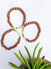 Honeycomb + Wood Freedom Bracelet