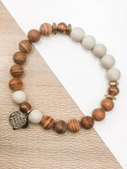 Red Line Jasper + Copper -- Ripple Freedom Bracelet