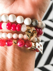 Valentine's Day Bracelet Stack -- (Set of 4)