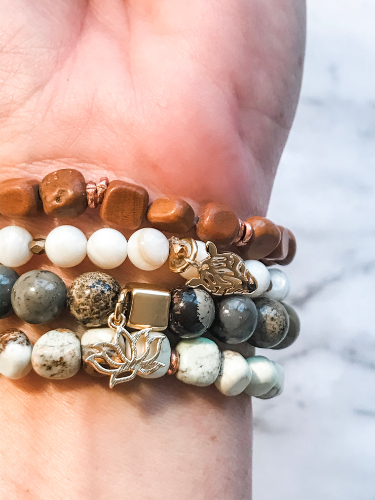 Jujube Wood + Matte Gold | Freedom Bracelet