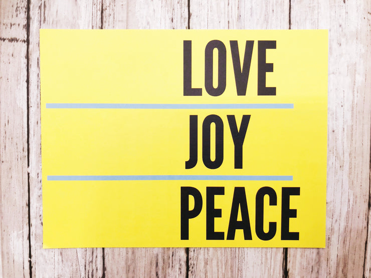 Love, Joy, Peace Card Set