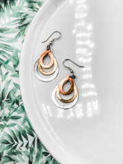 Trinity Metal Earrings -Fairtrade certified