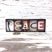 Peace - Photo Letter Art
