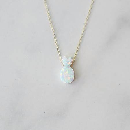 Opal Pineapple Necklace