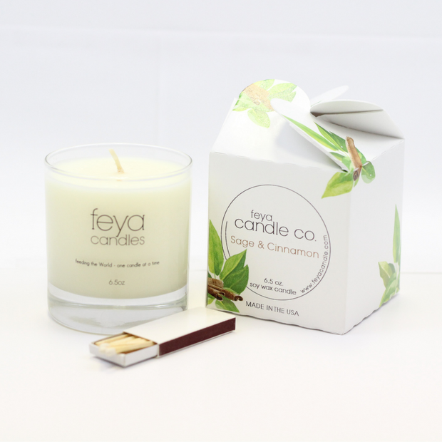 Sage and Cinnamon Candle by Feya