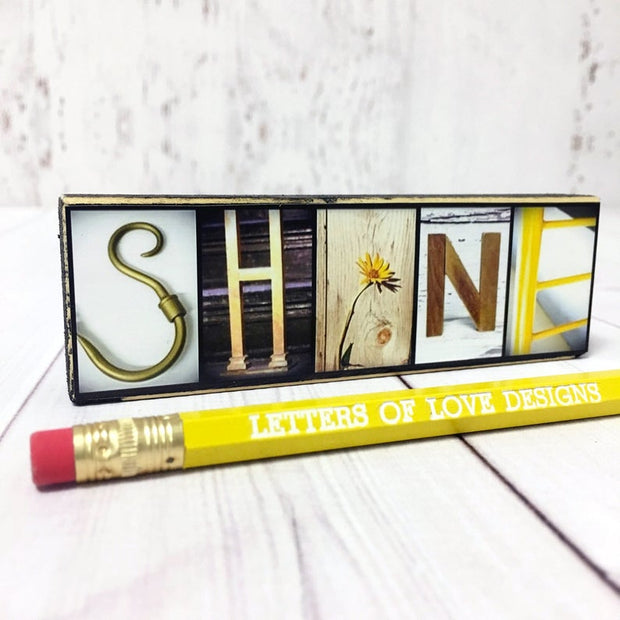 Shine - Photo Letter Art