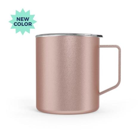 Stainless Steel Coffee Mug + lid - 14 oz
