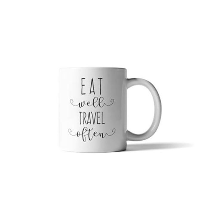 Eat Well Travel Often Mug
