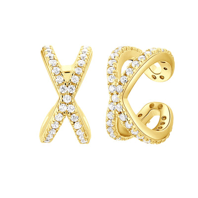 Earcuff cross white