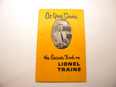 1953 Lionel Dealer Sales Aid Answer Book For The Man Who Sells Them