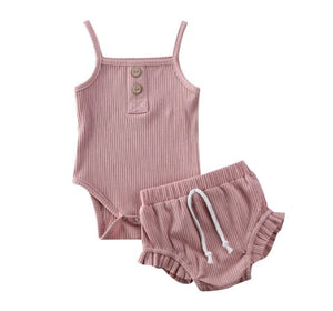 Mia Bloomer Set - Blush