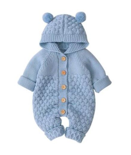 Baby Bear Onesie - Blue