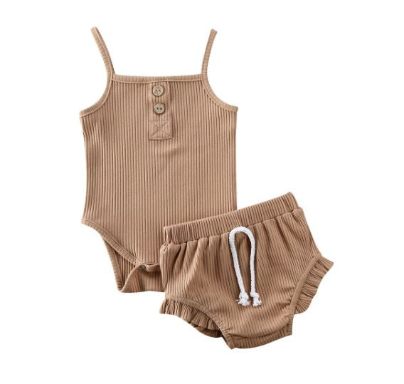 Mia Bloomer Set - Brown