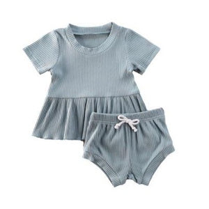 Dimity Ribbed Basics Set - Blue