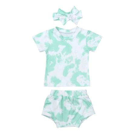 Tie Dye Bloomer Set - Green