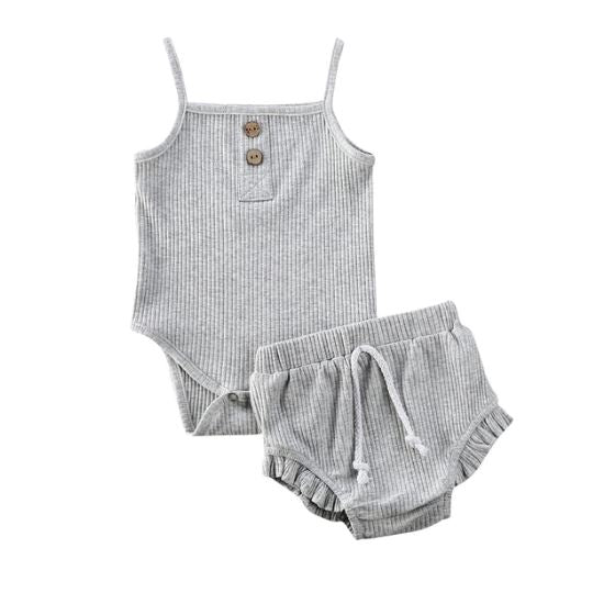Mia Bloomer Set - Grey