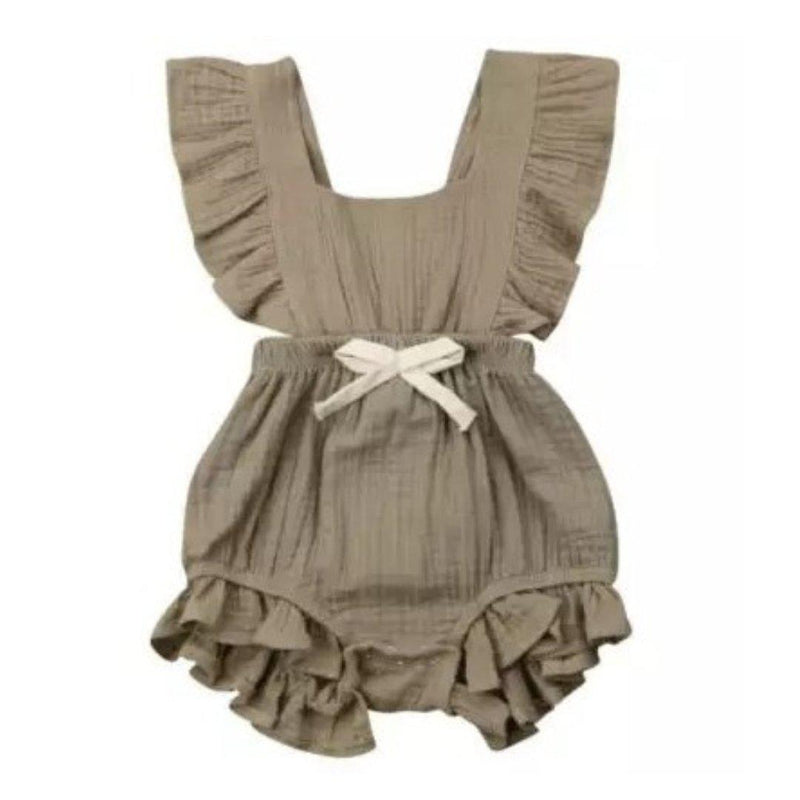 Mary Romper - Khaki Green