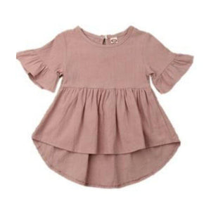 Evie Swing Dress - Dusty Pink
